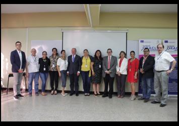 Conferencia de inauguración de la Oficina de Equidad en la Universidad Dr. José Matías Delgado, El Salvador